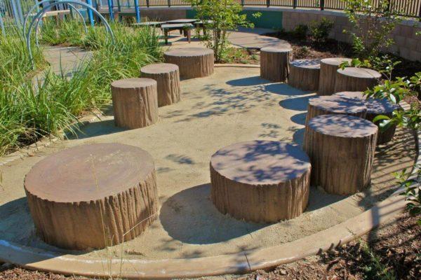 wood stump playground