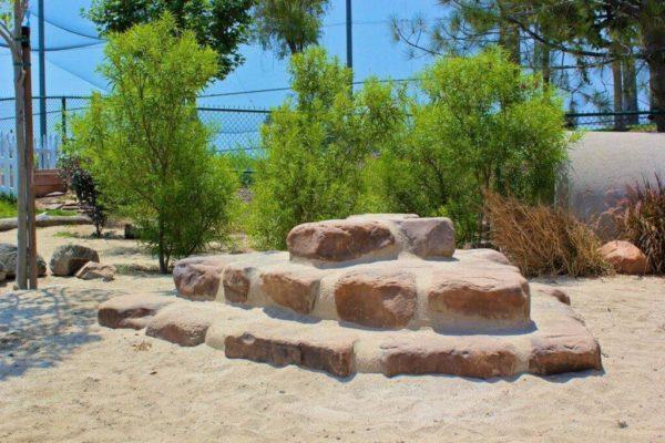 garden stones in sand
