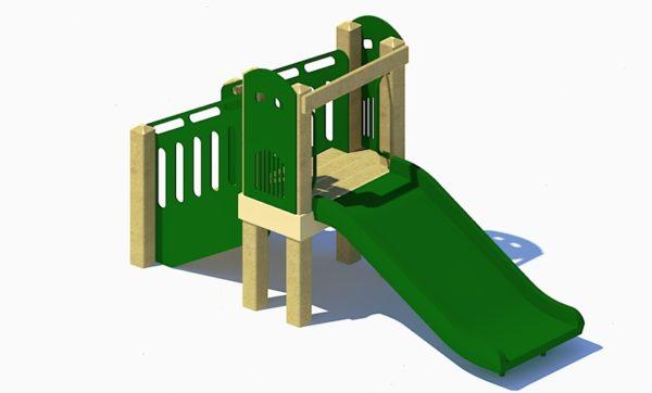 Freestanding 36in Wide Slide