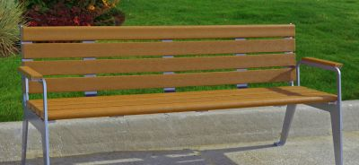 Plaza Bench With Back 4