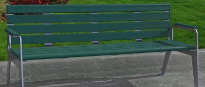 Plaza Bench With Back 3