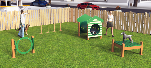 Recycled Small Dog Course